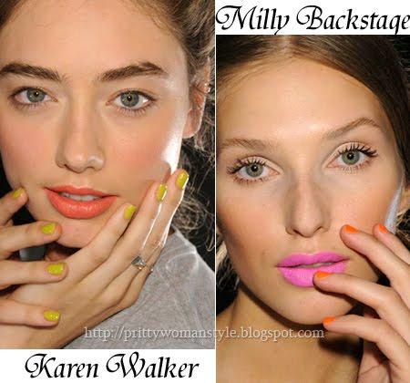 Ярък маникюр, модерен цвят на лака за пролет-лято 2012