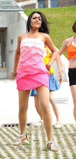 Trisha Krishnan in Spicy Pink Short Dress Stunning Cute Beauty