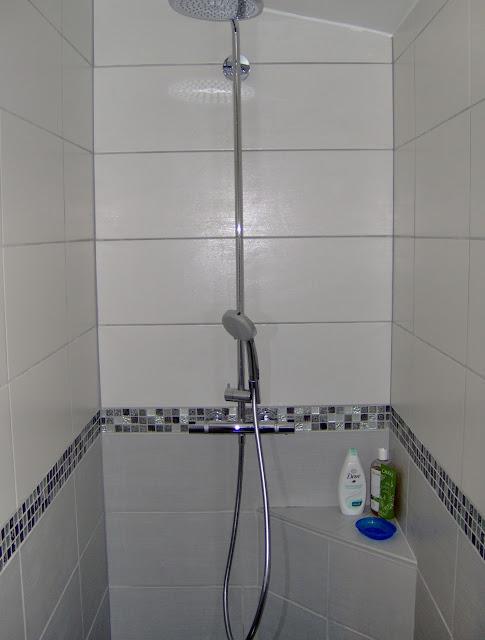 Concept carrelage cr ation salle de bain avec une for Frise mosaique salle de bain