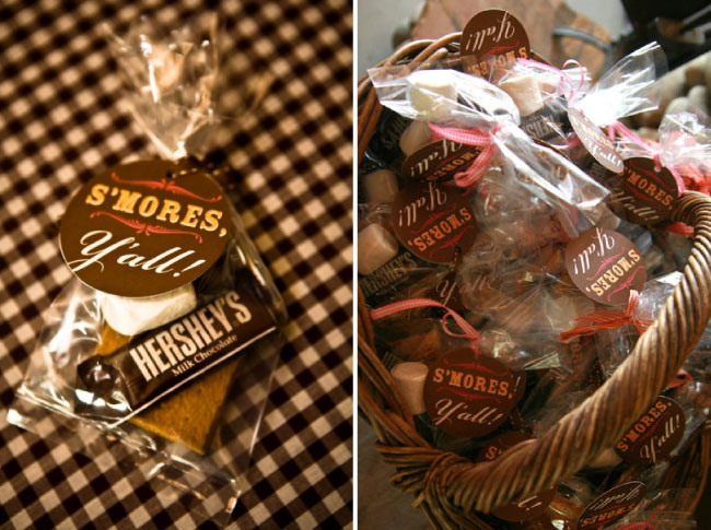 Beautiful Bridal Smores Wedding Favors