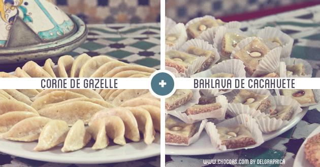Marrakech taller de cocina - recetas corne de gazelle y baklava