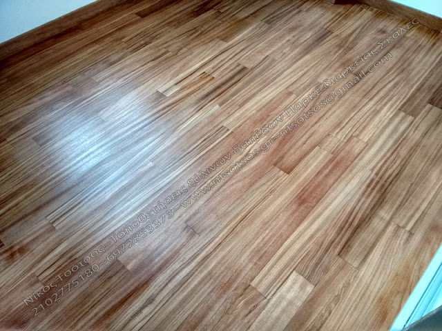 Συντήρηση σε ξύλινο πάτωμα doussie
