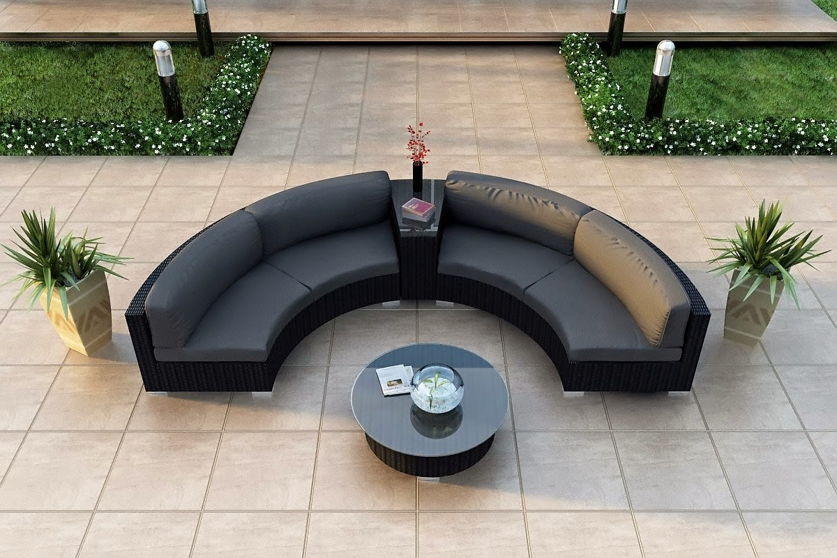 curved outdoor sofa