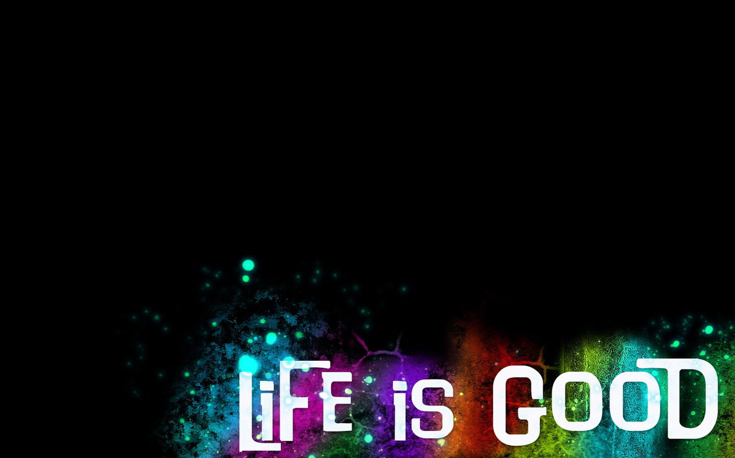 Life Is Good Widescreen Full HD Wallpaper