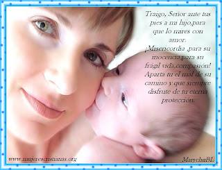 Tarjeta – Oración de una madre por su bebe