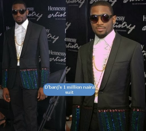 dbanj one million naira suit