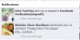 Facebook Verifications Urgent Request