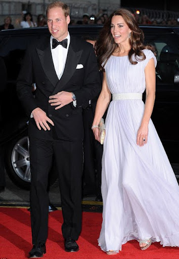 Уилям и Кейт на Червения килим
