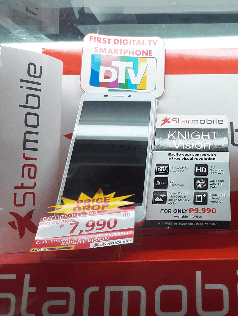 Starmobile Knight Vision Gets A Price Cut! Now More Affordable At 7990 Pesos