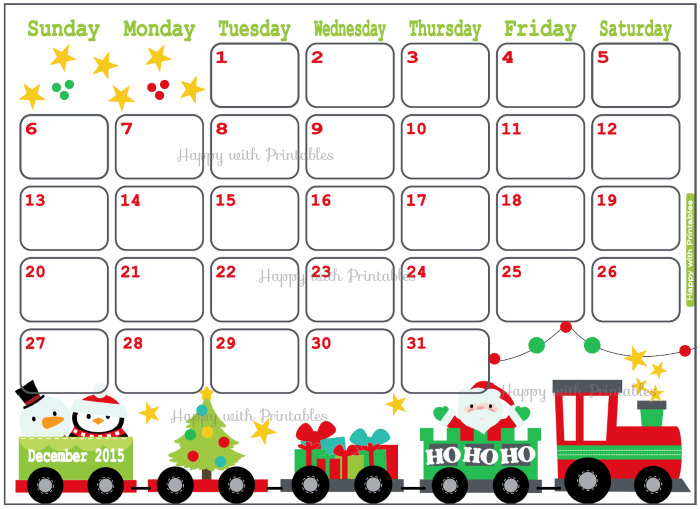 Christmas Calendar 2015 : Merry ^ december calendar christmas templates