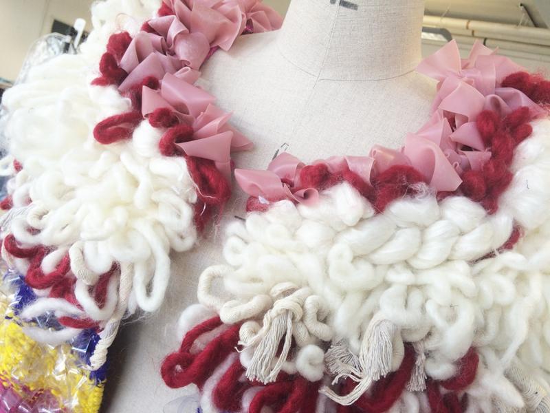 Lauren Pullen Hand Woven Coat Details