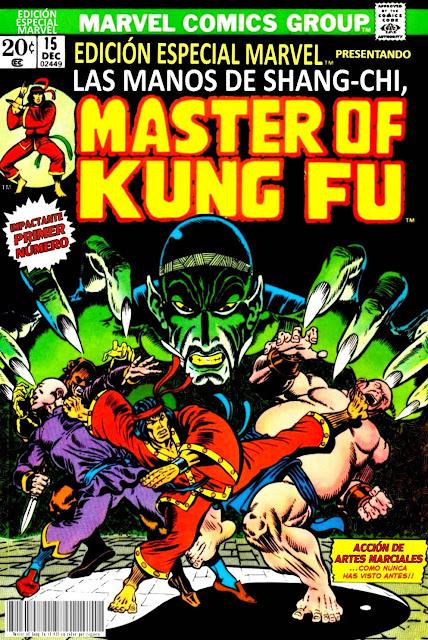 Portada de Master of Kung Fu Nº 15 traducido