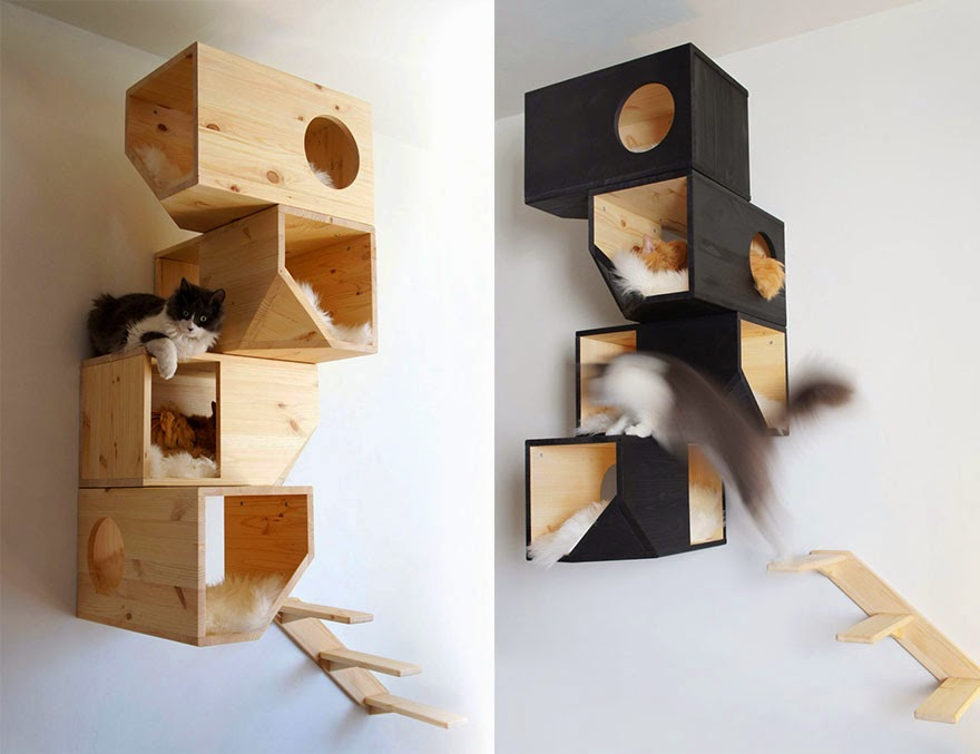 20 awesome furniture design ideas for crazy cat people for Cool cat perches