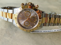 ROLEX DAYTONA SUNBURST GREY DIAL TWO TONE YELLOW GOLD-ROLEX 116523 - SERI Y YEAR 2004 - FULLSET
