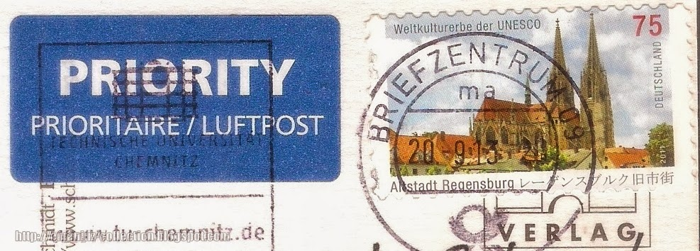 Stamp; Old Town of Regensburg (Altstadt Regensburg)
