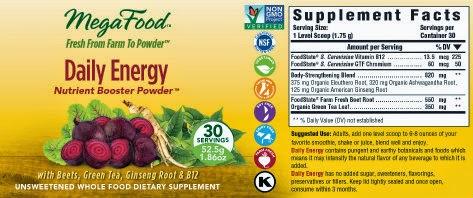 megafood energy nutrient blend