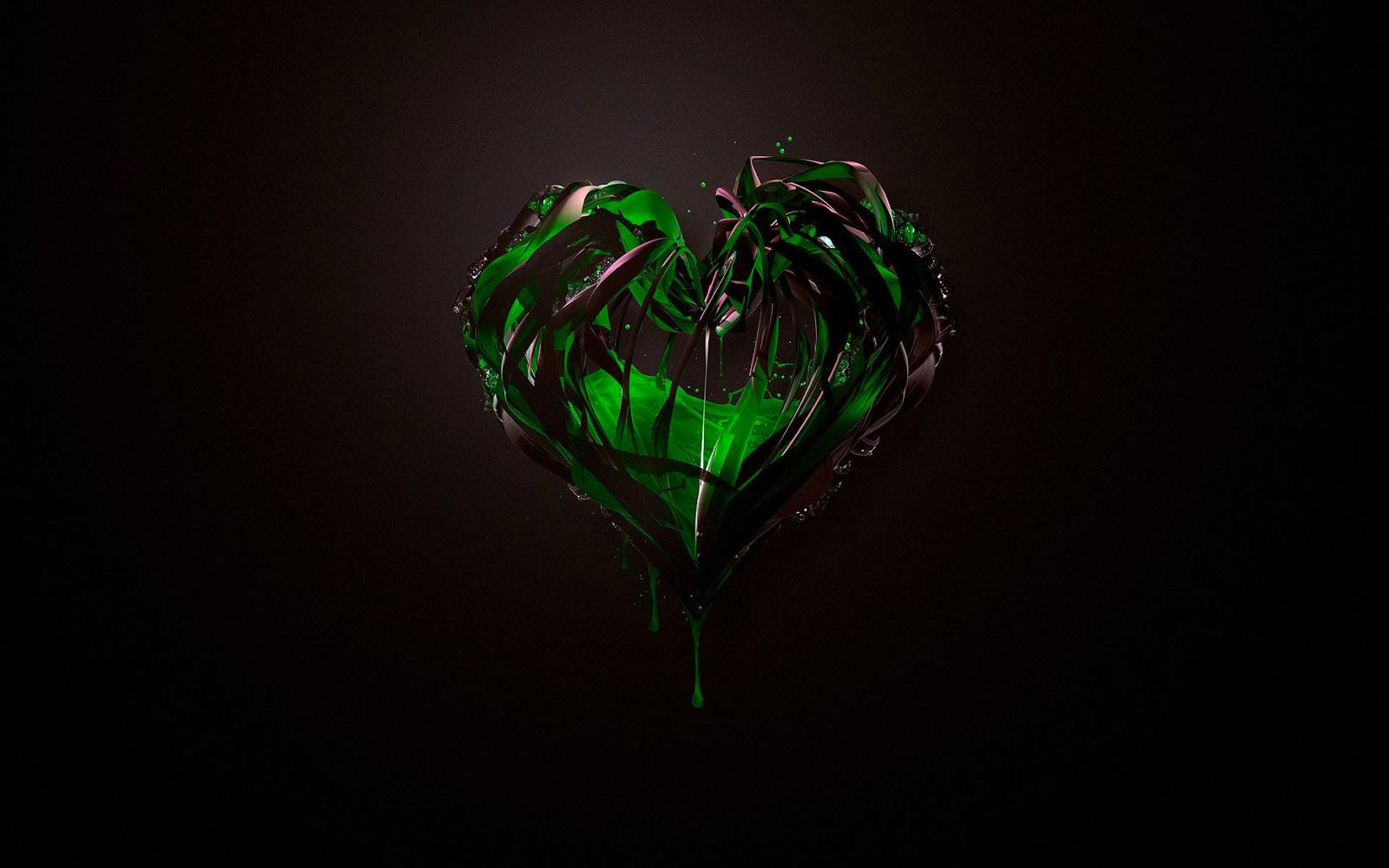 wallpapers: Green Heart Wallpapers
