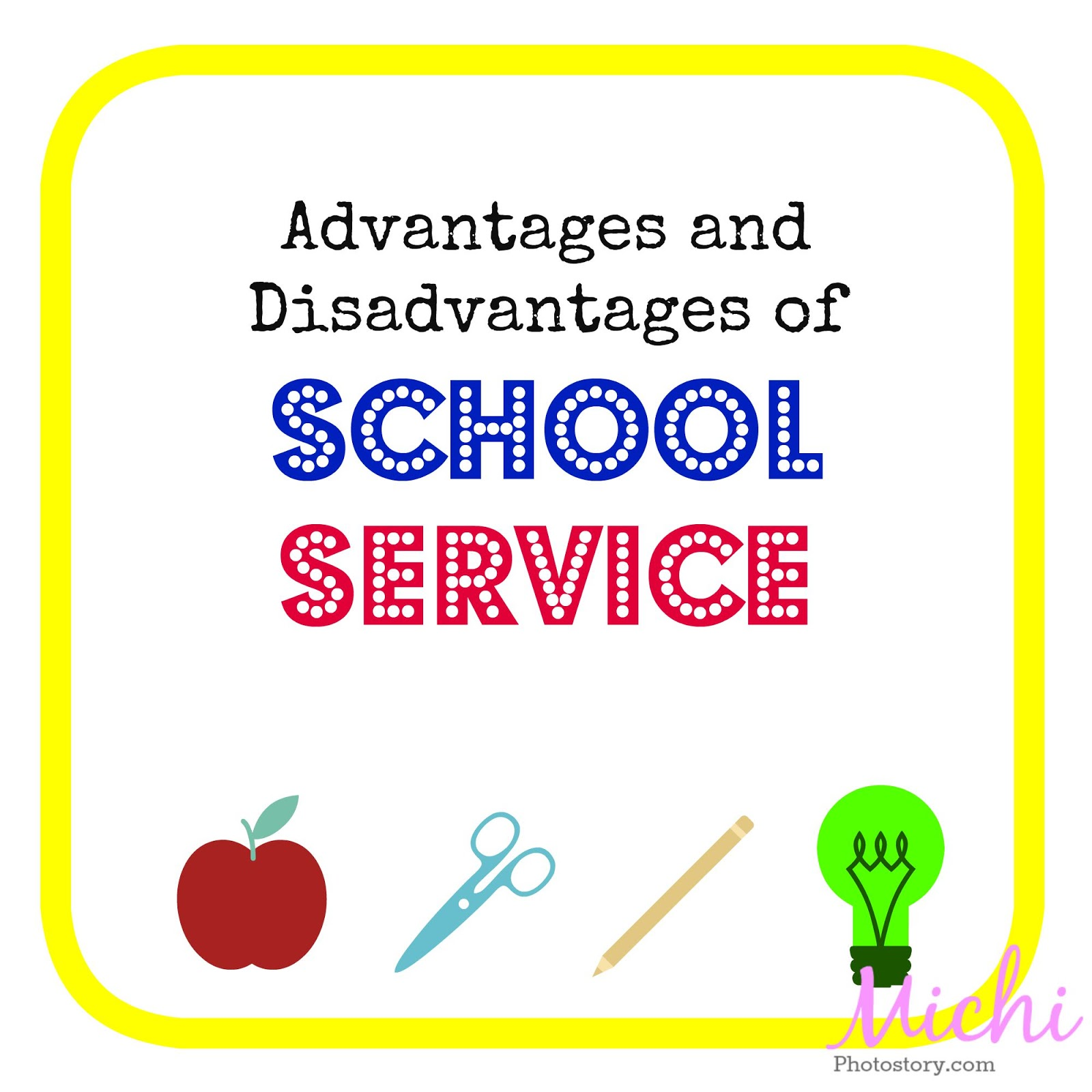 the advantages and disadvantages of school Disadvantages of english medium school 1 heavy school fee 2 economically weaker sections of society cannot afford an english medium school for their children 3 lesser importance to other languages what are the advantages and disadvantages of having one's mother tongue as the medium of instruction during primary education in india.