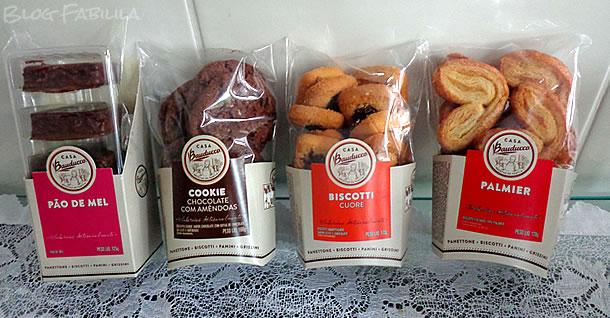 Pão de Mel, Cookie de Chocolate, Biscotti Cuore, Palmier Casa Bauducco