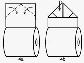 """Оригами """"Кристалл"""" из туалетной бумаги"""