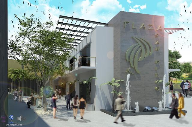 C a arquitectos dise o infografia arquitectura plaza for Locales comerciales modernos exterior