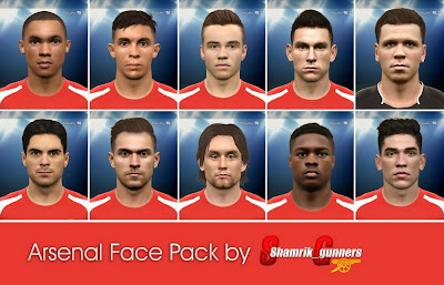 PES 2015 Arsenal Face Pack by shamrik_gunnerrs