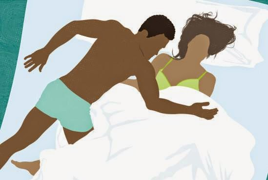 8 Sleeping positions that reveal a lot about your relationship - man woman sleeping toons cartoon animation