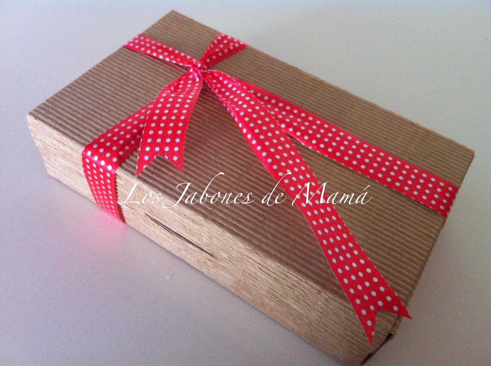 Los jabones de mam regalos de navidad kraft con lunares - Cajas grandes de carton decoradas ...