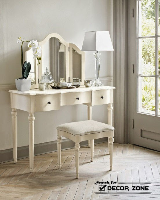 Mirrored dressing table designs and decorating ideas