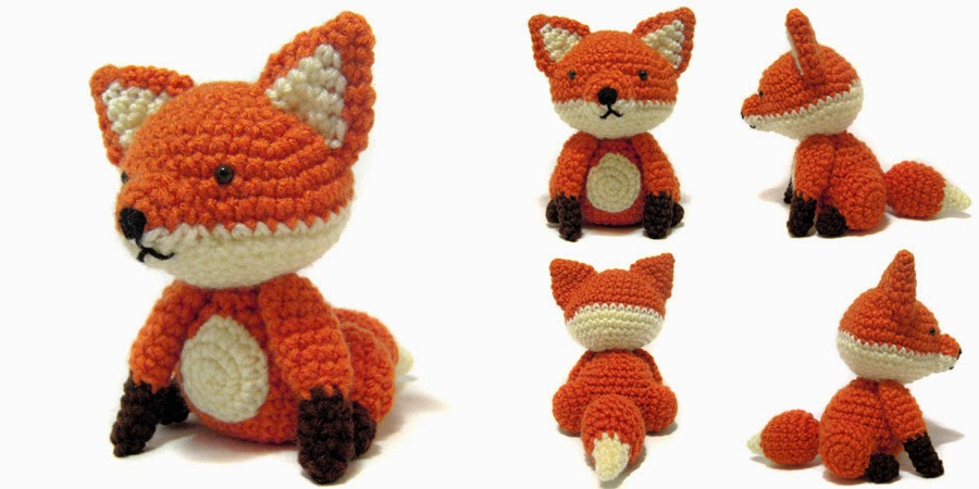 crochet things: Free Pattern Friday: Sitting Fox Amigurumi