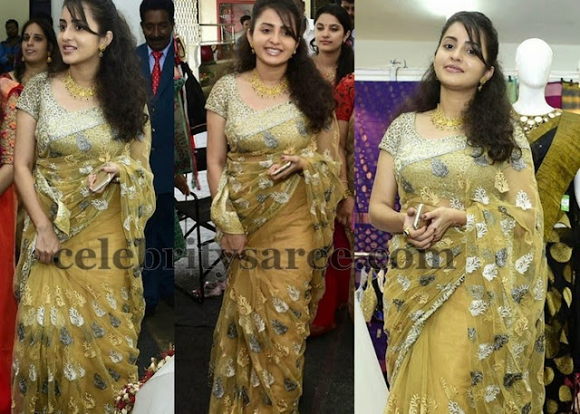 Bhama Embroidery Saree