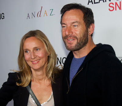 Actress Emma Hewitt and husband Jason Isaacs