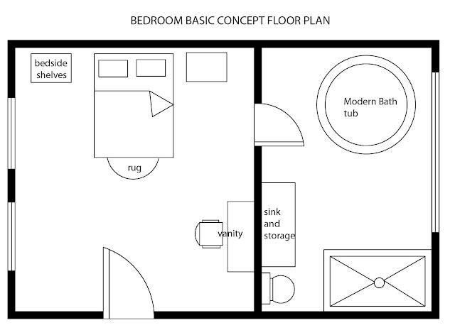 MODERN BEDROOM BASIC FLOOR PLAN