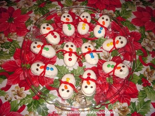 Margaret s morsels no bake snowman cookies