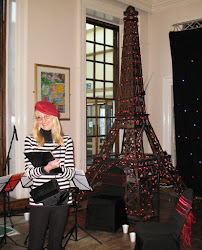 Caricaturist at Paris themed event