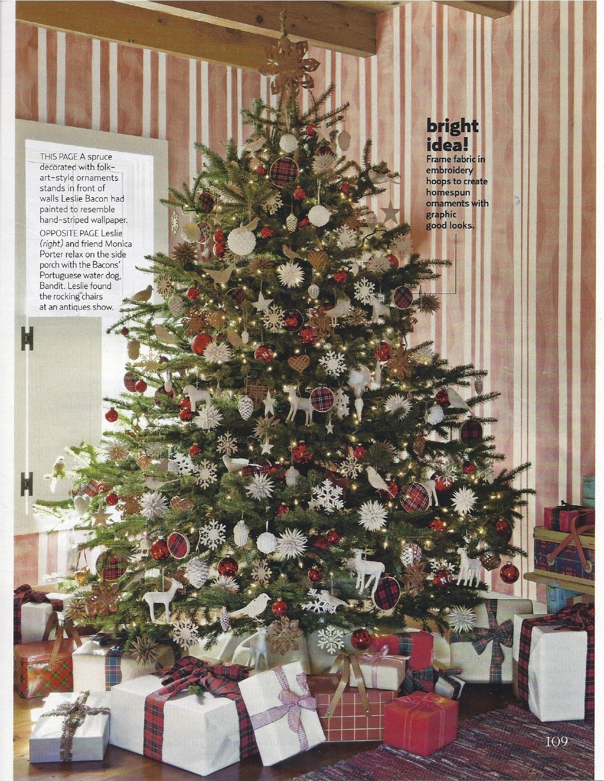 karin lidbeck 2011 country living magazine christmas feature. Black Bedroom Furniture Sets. Home Design Ideas