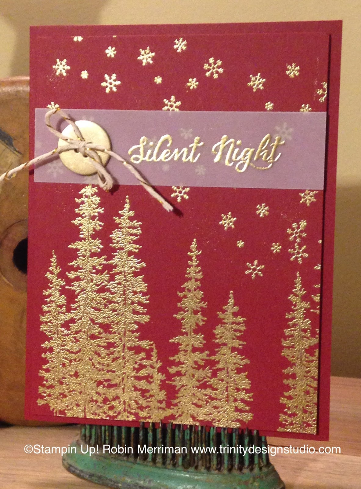 Trinity designs cherry and gold an easy and elegant for Elegant homemade christmas cards