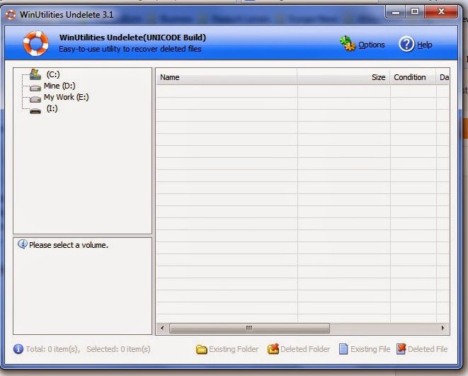 undelet file, recover deleted file, winutulities software