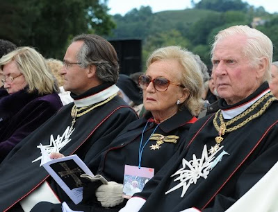 Former first lady Bernadette Chirac attends mass celebrated by Pope Benedict XVI at La Prairie in Lourdes on September 14, 2008 in celebration of the 150th anniversary of when the Virgin Mary is said to have appeared to Bernadette Soubirous in 1858