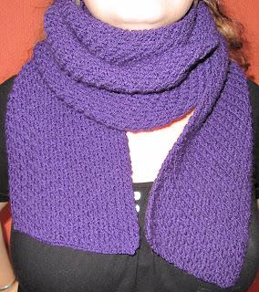 Les tricots de marion juillet 2012 - Point tricot fantaisie pour echarpe ...