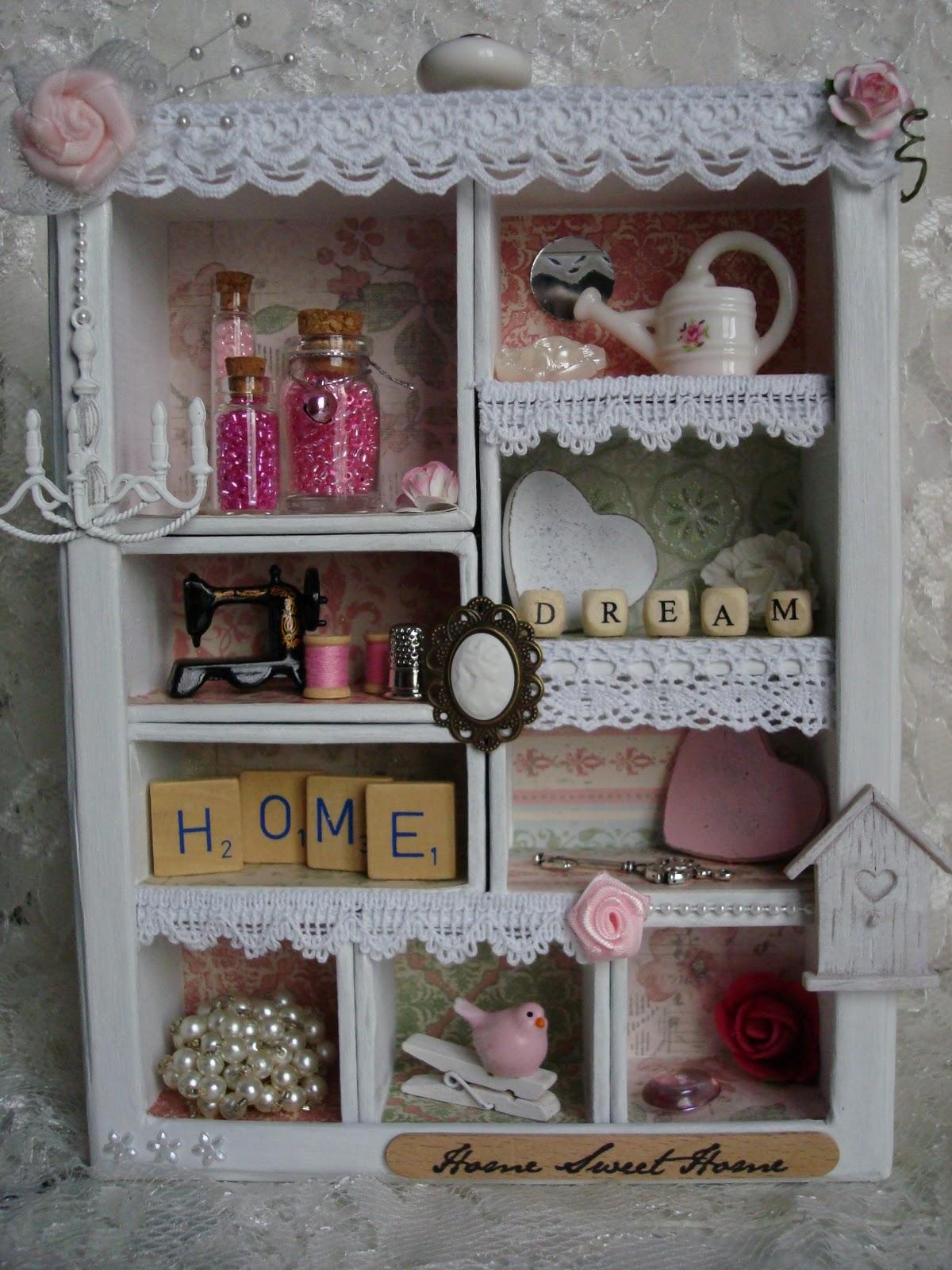 Linde 39 s hobbyblogje romantisch kastje - Versieren van een muur in ...
