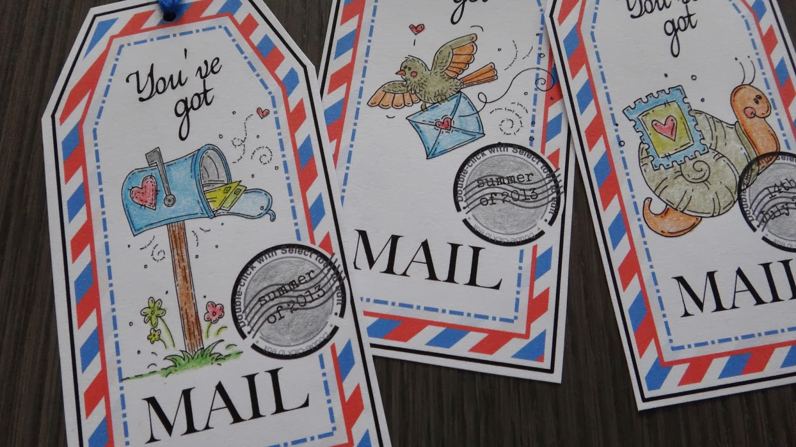 snail mail tags and mail art