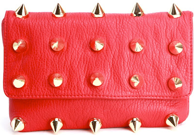 Deux Lux Empire Clutch Red