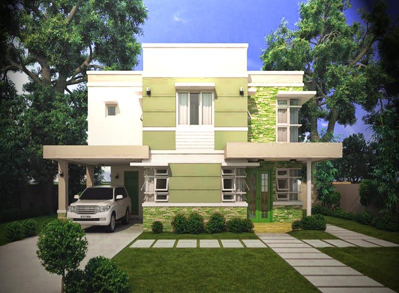 bentuk tampak depan gambar rumah mewah minimalis pinoy