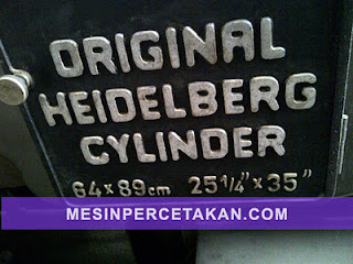 ORIGINAL Heidelberg SBD Cylinder Die Cutting Machine