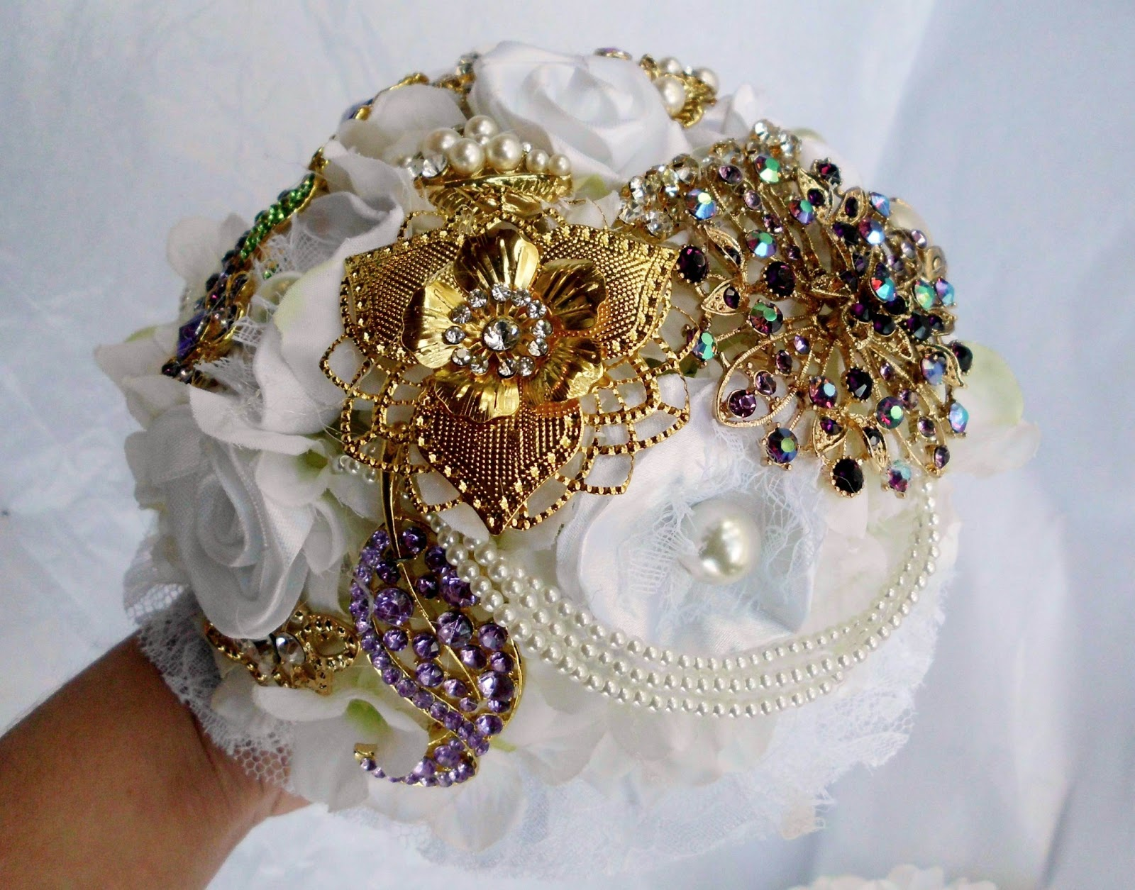 Have it all fabric flower bridal bouquets for handmade weddings fabric flower bridal bouquets for handmade weddings izmirmasajfo