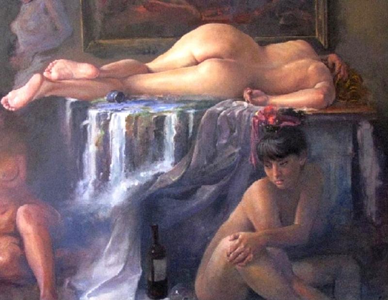 D.W.C. Bolivian Girl - Painter Zeno Sansuste Zapata,
