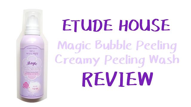 Etude House Creamy Peeling Wash Foam Review | FISHMEATDIE
