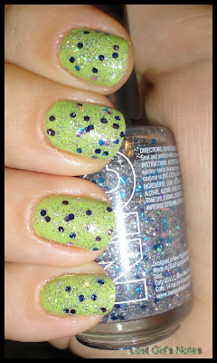outloud lime  and NYC starry silver top coat
