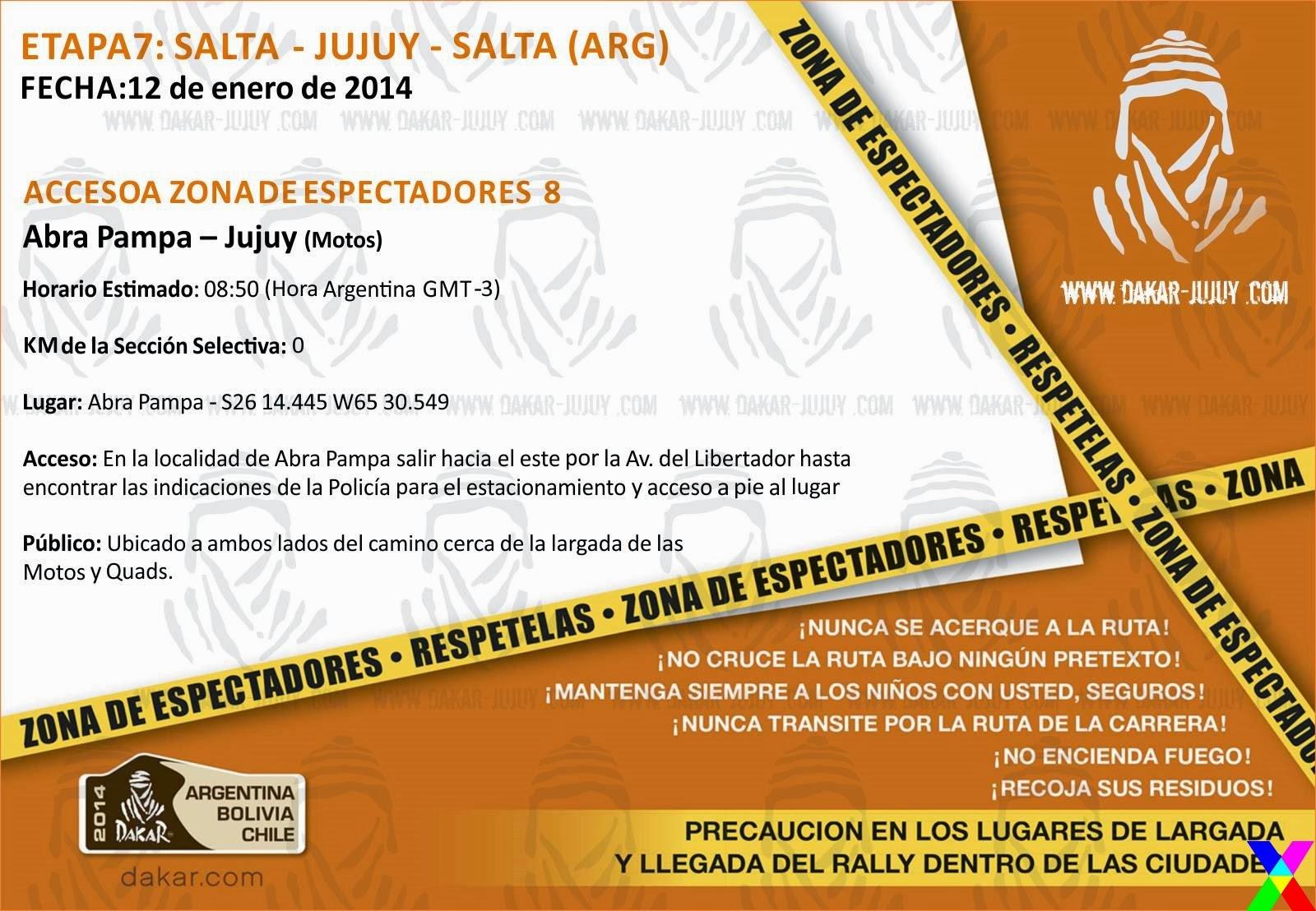 Zona de Espectadores 8 Jujuy - Dakar 2014